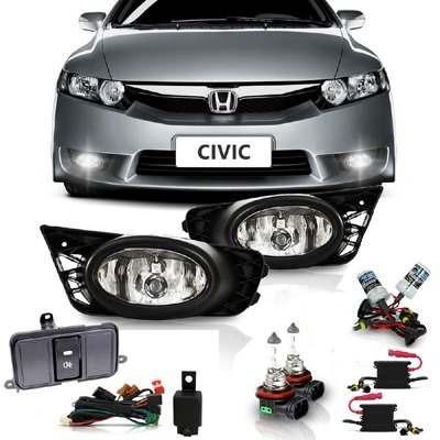 Kit Farol Milha Honda Civic 2009 + Xenon 8000k