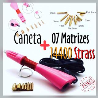 Caneta Aplicadora De Strass Hot Fix + 14400 Strass