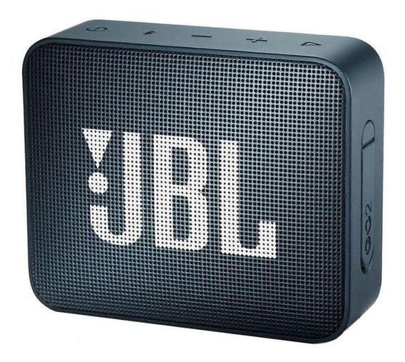 Caixa de som JBL Go 2 portátil sem fio Slate navy