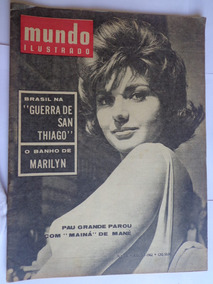 Revista Mundo Ilustrado 236 Jul 62 Marilyn Monroe Garrincha