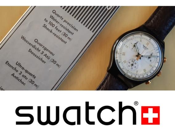 Relógio Swatch Chrono Quartz Edição Limitada Sem Uso Na Caix
