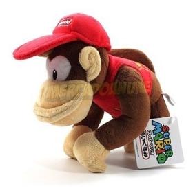 1 Boneco Pelúcia Diddy Kong 19cm Original Nintendo
