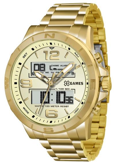 Relógio X-games Masculino Xmgsa003 C2kx Dourado Anadigi