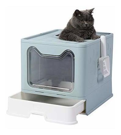 Arenera Cubierta Genenic - Caja De Arena Plegable Para Gatos
