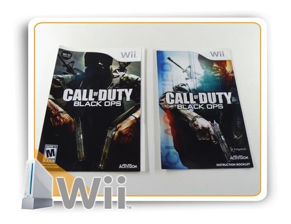 Encarte E Manual Call Of Duty Black Ops Origin. Nintendo Wii