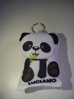 30 Llaveros Oso Panda Personalizados Nombre Souvenirs