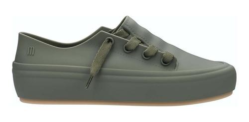 Imagen 1 de 10 de Zapatillas De Mujer Urbana Sneaker Melissa Verde Ingles