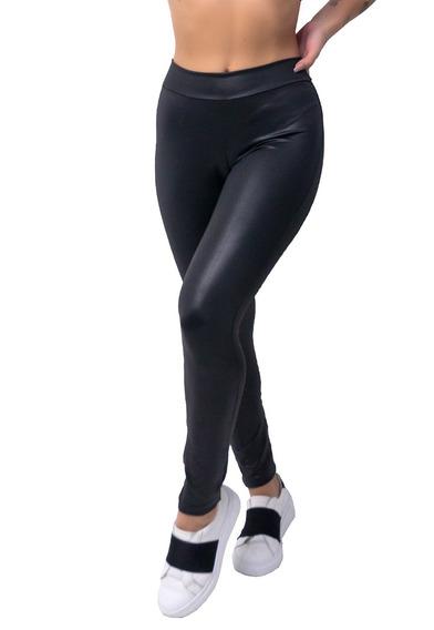 Calça Legging Cirre Feminina Disco Hot Pants Couro Fake