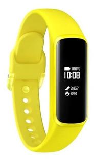 Relógio Smartwatch Samsung Galaxy Fit E Amarelo Sm-r375 Nf-e