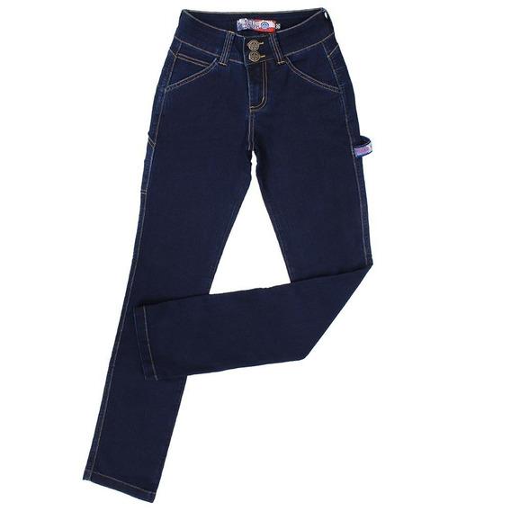 Calça Carpinteira Feminina Azul Rodeo Western 23356