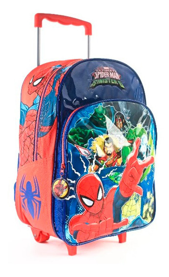 Mochila Spiderman Carro 16 Original Wabro
