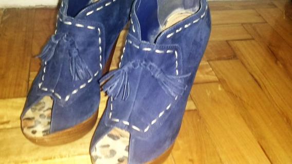 Zapatos Gamuza Via Uno