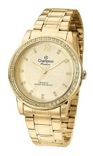Relógio Feminino Dourado Champion Cn29150g