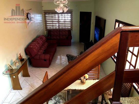 Sobrado Com 3 Dormitórios À Venda, 125 M² Por R$ 489.000,00 - Jardim Satélite - São José Dos Campos/sp - So0326