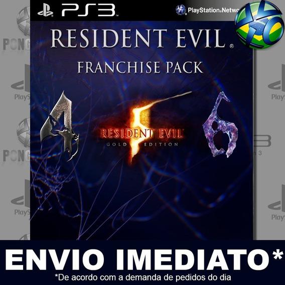 Resident Evil Franchise Pack Ps3 Psn Jogo Em Promoção Play 3