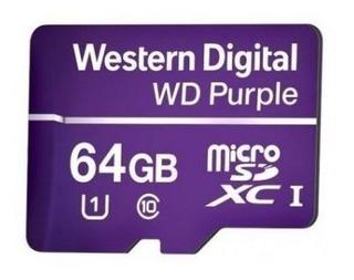 Cartão De Memória Microsd 64gb Wd Purple P/ Sistemas De Seg.