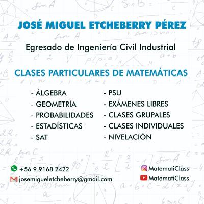 Clases Particulares Matemáticas Básica, Media Y Psu 2020