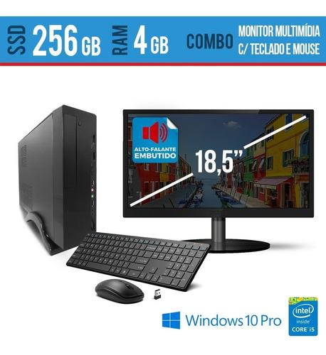 Imagem 1 de 1 de Desk Intel I5 4gb Ssd 256 Teclado E Mouse S/fio  Monitor W10