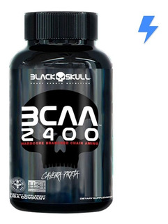 Bcaa 2400 - 30 Tabletes Caveira Preta - Black Skull