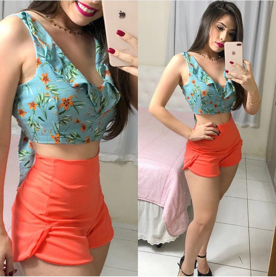 Conjunto Short E Cropped