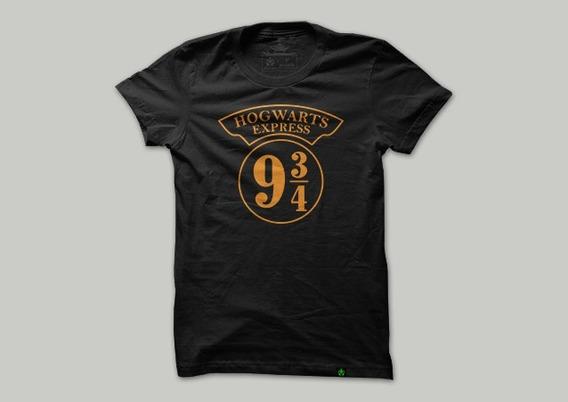 Camiseta Anime Geek Harry Potter Plataforma 9 3 4
