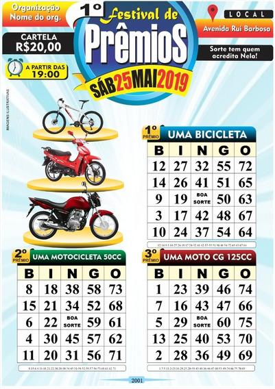 2.000 Cartelas De Bingo Personalizada Em Pdf Arquivo