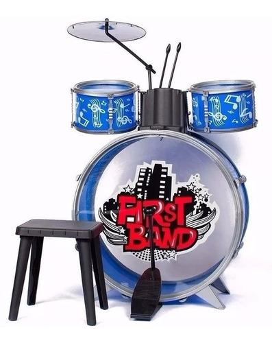 Bateria Azul Musical Para Niños First Band Art Fd2541 E.full