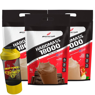 3x Massa Hipercalorico Hard Mass 18000 - Bodyaction Original