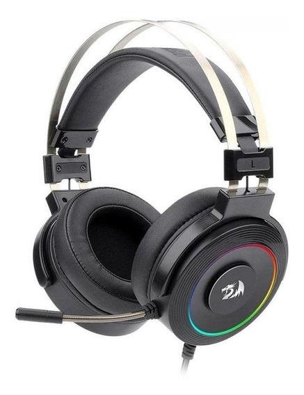 Headset Gamer Redragon Lamia 71 Preto E Vermelho Com Fio Pc
