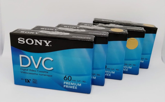 Kit C/ 5 Un. Fita Dvc Minidv Sony Dvm60prr Lacradas