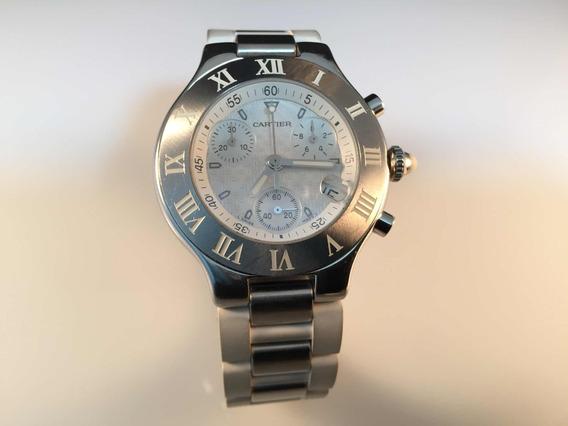 Cartier 21 Chronoscaph De Acero 32 Mm Quartz Chronograph
