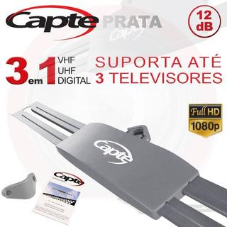 Antena Digital Capte Prata Externa Bidirecional Envio 24h