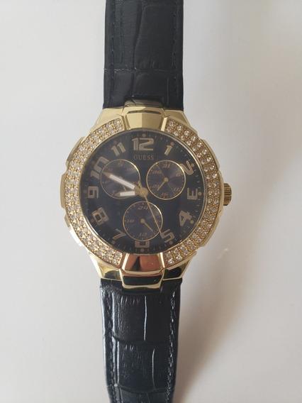 Relógio Guess Dourado Com Preto