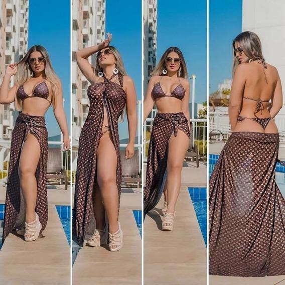 Biquíni Louis Vuitton Com Saída De Praia - Promoção !!