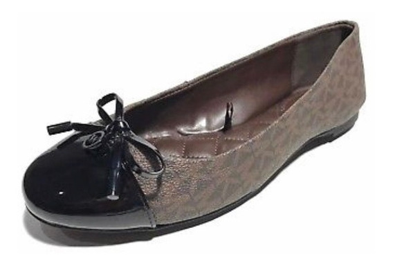 Zapatos Michael Kors Ballet Cafe Con Negro - Envio Incluido