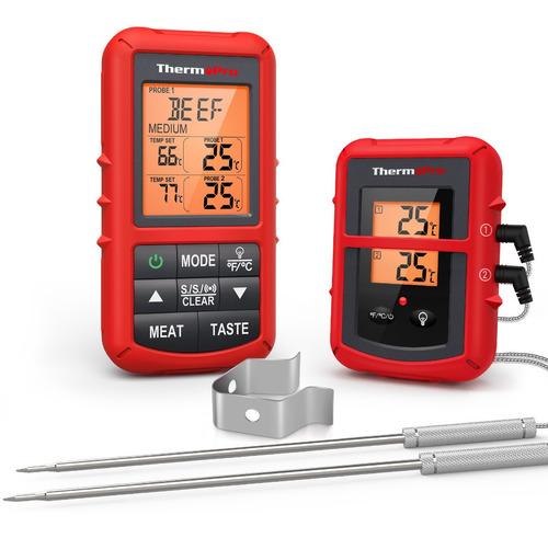 Imagen 1 de 7 de Termometro Digital Inalambrico Thermopro Tp20 Carne Y Horno