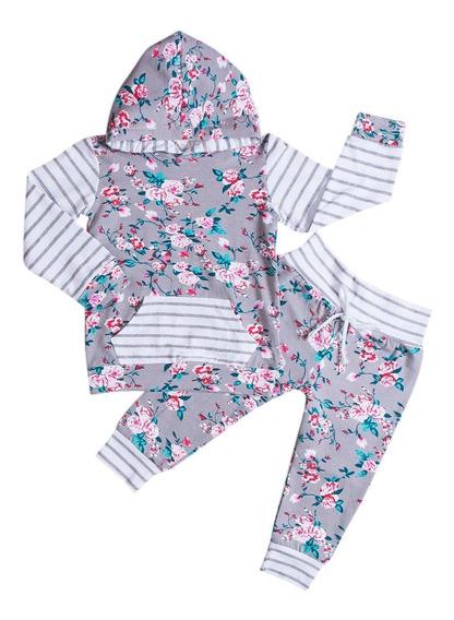 Conjunto De Sudadera Con Capucha Y Pantalón Para Bebés