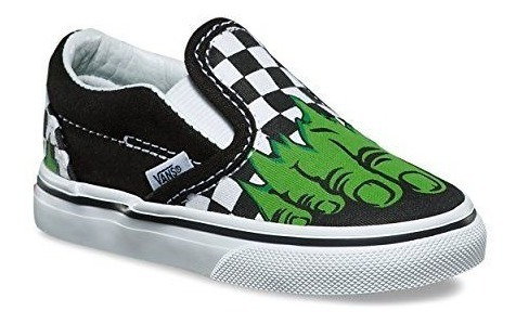 Tenis Niño Vans X Marvel Classic Slip On Hulk Checkerboard