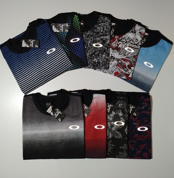 Kit 10 Camisas Oakley Refletivas Zoi De Gato Frete Gratis!!!