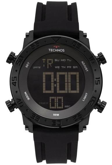 Relógio Masculino Technos Bjk006aa/4p 48mm Silicone Preto