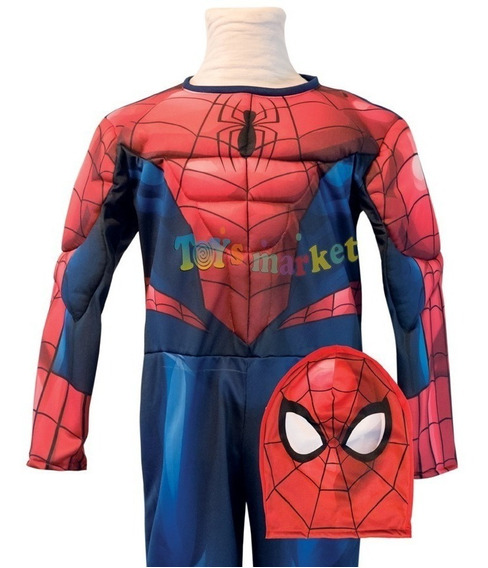 Disfraz Hombre Araña Con Musculos Spider Man Licencia Marvel