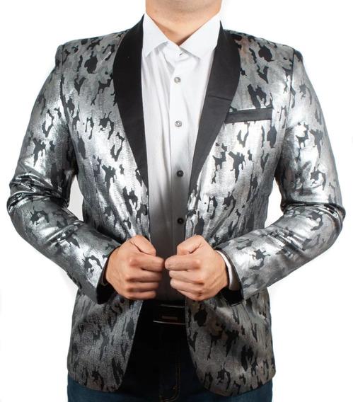Saco Para Hombre Premium Marca Moderno Mjb 2015 Plateado
