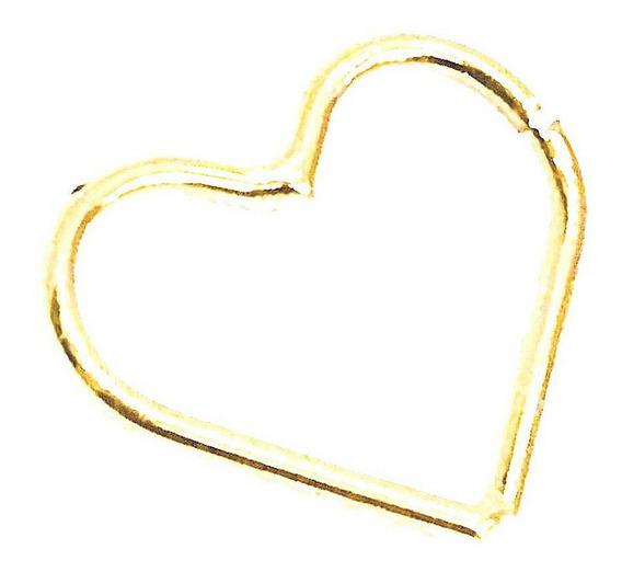 Piercing De Orelha Cartilagem Coração Em Ouro 18k