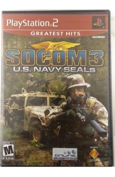 Socom 3 Para Ps2 Us Navy Seals Novo Lacrado Físico A6983