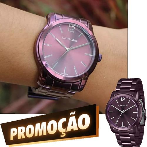 Relógio Feminino Lince Roxo Original Lrv4449l U2ux
