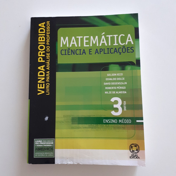 Livro Matemática Ciência E Aplicações Vol3 Ensino Médio C2