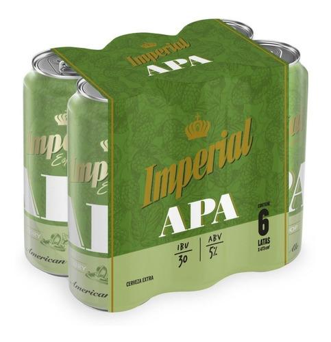 Cerveza Imperial Apa 473 Ml Pack X 6 Unidades