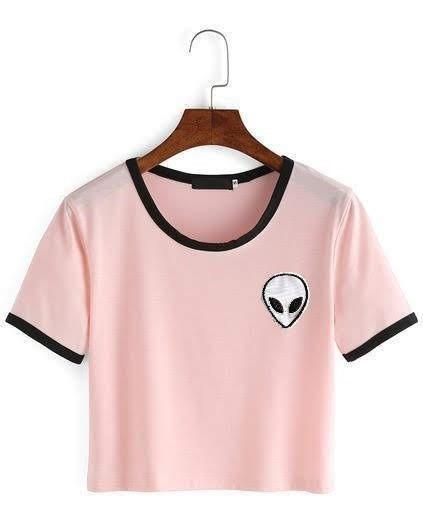 Playera Mujer Alien Tumblr Rosa Blusas Extraterrestres