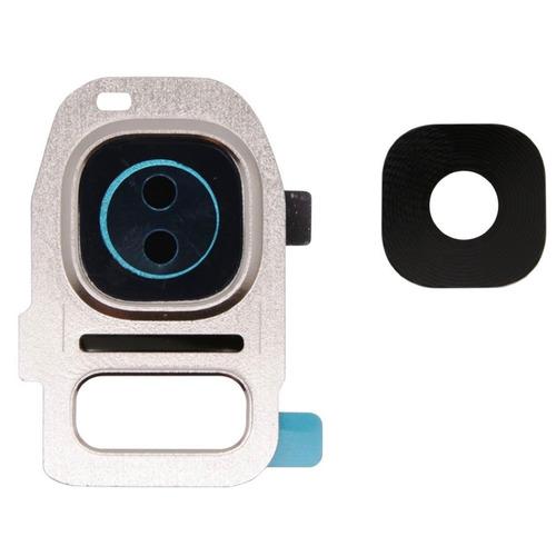 Galaxy S7 Edge Cubierta Camara Lente Cristal Marco Plateado