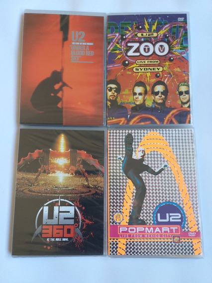 U2 Dvd Zoo Tv Pop Mart 360 Under A Blood Red Sky